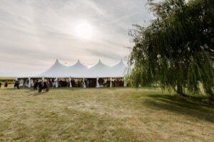 60x100 Century Pole Tent at Port Austin MI wedding
