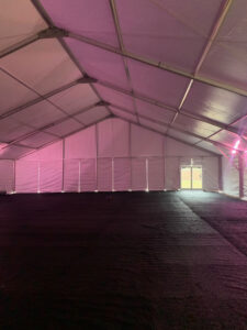 Clearspan Tent with Flooring for a Medical tent