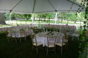 20x60 Trac frame tent - Oxford MI wedding