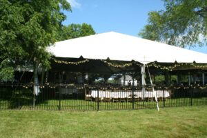 20x60 Trac tent, our 40x80 NaviTrac tent and a 30x30 frame tent at Oxford MI wedding
